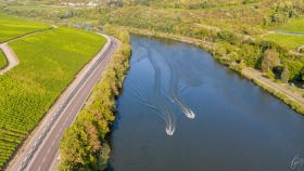 Race on the Moselle river